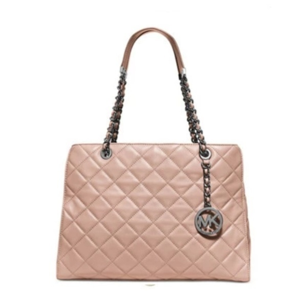 Michael Kors Handbags - Michael Kors Susannah Quilted Small Tote NWT
